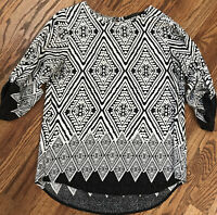 Fun 2 Fun Stitch Fix Women's Size M Medium 3/4 Sleeve Top Blouse Shirt