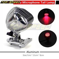 Motorcycle Brake Tail Lamp Aluminum Microphone Rear Light Fit Chopper Bobber