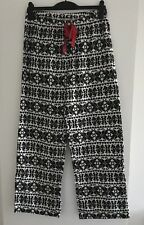 BNWOT Ladies Next Black & White Christmas Pyjama Bottoms - Size Medium