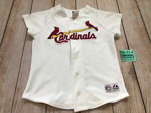 MLB St. Louis Cardinals Baseball Youth Jersey Small S Majestic Pujols #5 Boy Kid