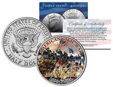 AMERICAN CIVIL WAR - 150th Anniversary * Battlefield * JFK Half Dollar U.S. Coin