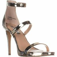INC International Concepts Womens Sadiee Leather Open Toe, Pale Gold, Size 8.0 Q