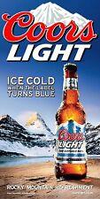 Coors Light ICE COLD Bottle Cornhole Board Game 3M Vinyl Wrap Set
