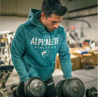 Alphalete Hoodie Mens Gym Pullover Fitness Workout Top Bodybuilding Alpha Shirt