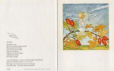 Antique Rare Ida Bohatta: Greeting Card: The Berries Cluster Bright: 75-1008
