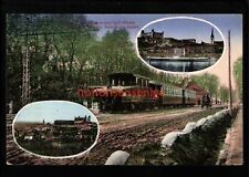 MORAVIA PRESSBURG-WIEN ELEKTR. BAHN-STATION AUPARK RAILWAY Pozsony PC 1916 -Mo11