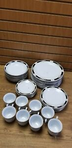 Crown Ming Fine China Complete Set 37 Pieces Service For 8 *READ*