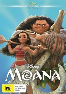 Walt Disney's MOANA DVD 2016 NEW Region 4 Dwayne Johnson THE ROCK Demigod