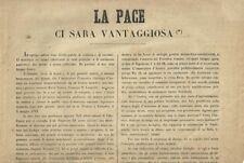Manifesto Risorgimento La Pace ci Sarà Vantaggiosa Avvocato Pagani Brescia 1859