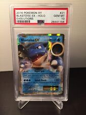 POKEMON XY PSA 10 BLASTOISE EX HOLO EVOLUTIONS #21