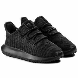 Adidas Kids Boys Trainers Tubular Shadow Casual School Shoes Black Sneakers