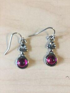Vintage Style Red Stone Dangle Gift Drop Earrings  Drop Earrings