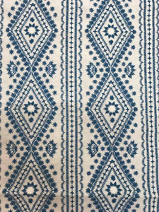"""Lee Jofa """"Lucknow"""" Fabric Remnant in Blue"""