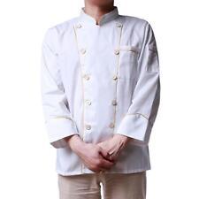 Stylish Long Sleeve Uniform Top Jacket/Coat Kitchen Chef Cooker Work Uniforms Cf