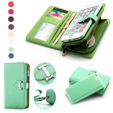 Luxury Zipper Detachable Handbag Coin Wallet Card Case Slot For iPhone 6 6S Plus