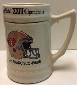 San Francisco 49ers Superbowl XXIII Champions Stein Mug Tankard NFL