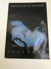 SIOUXSIE AND THE BANSHEES PEEPSHOW TOUR PROGRAMME Rare Poster Book