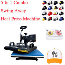 12x155 In1 Combo Heat Press Transfer Printing Machine Diy Mug T Shirt Hat Plate