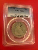 1871 S 50C Seated Liberty Half Dollar PCGS FR 02