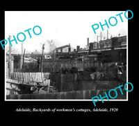 OLD 8x6 HISTORIC PHOTO OF ADELAIDE CITY CENTRE WORKMENS COTTAGES c1920