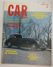 Car Classics Magazine 1937 Delage & 1913 Simplex August 1970 052115R2