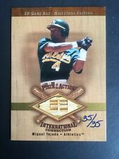 Miguel Tejada 2001 Sp Game Bat Card Gold 35/35 1/1 Piece Of Action Rare