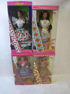 4x Barbie Dolls of the World Italian 2256 Australian 3626 1753 14449 NRFB #PC300