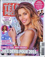 Télé Poche n°2551 du 03/01/2015 Camille Cerf Miss France