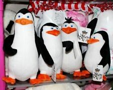"4PCS/Set Dreamworks The Penguins of Madagascar TV Soft Plush Stuffed Toy 8""-10"""