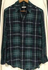 Equipment Checked / Plaid Casual or Work Shirt / Top Sheer Arms Size X Small