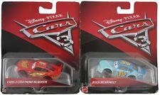 Disney Pixar Cars 3 Lot 2 Diecast Cars Lightning McQueen Buck Bearingly NEW