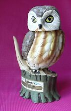 Ceramic Saw Whet Owl by Ski Country Whiskey Decanter 1977 Foss Made Japan