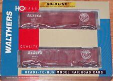WALTHERS 932-24163 GOLD LINE EXPRESS CAR 2-PACK ALASKA ARR
