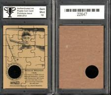HONUS WAGNER Pittsburgh Pirates Puzzle Coin Prototype Cards GRADED 10 Gem Mint