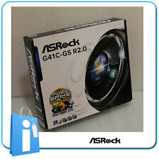 Placa base mATX G41 ASRock G41C-GS R2.0 ddr2 ddr3 Socket 775 con Accesorios