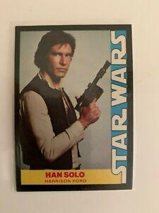 1977 Star Wars Wonder Bread Han Solo Harrison Ford #4 Trading Card High Grade
