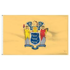 2x3 New Jersey Flag 2'x3' House Banner Grommets Super Polyester Fade Resistant
