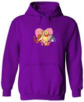 Unisex Pullover Hoodie Sweater Heart Love Tigger Piglet Pooh Honey Bee Group