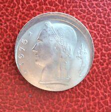 Belgique - Très Rare et  5  franc 1975  FR  fautée - Casquette
