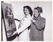 HEDY LAMARR BEATRICE LILLIE Original CANDID Studio Set Vintage 1949 MGM DW Photo