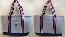 New FRED PERRY Laurel Mark Embroidered Felt Tote Shoulder Bag HandBag