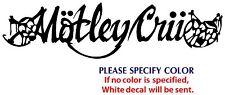 "MOTLEY CRUE #1 Metal Music TV Movie JDM Vinyl Sticker Decal Car Window Wall 7"""