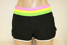 NWT Roxy Swimsuit Bikini Board Shorts cover up Sz 9 Black Tavarua
