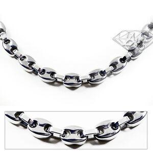 Accents Kingdom 8MM Men's Titanium Link Chain Necklace G
