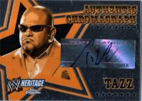WWE Tazz 2006 Topps Heritage Chrome Chromagraph Authentic Autograph Card