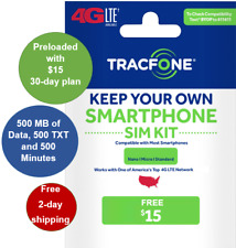 Tracfone Keep Your Own Phone SIM Kit-VERIZON (CDMA) with FREE $15 Pre-load