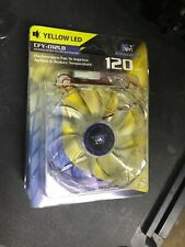 KINGWIN CFY-012LB Yellow LED 120mm Desktop Computer Cooling Case Fan, Quantity 3