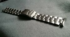 20mm fortis flieger watch bracelet strap band mens gents flip lock clap