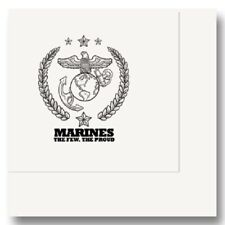 US United States Marines Party Supplies THE FEW, THE PROUD BEVERAGE NAPKINS