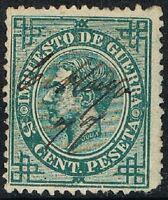 [CF4103] España 1876, Impuesto de Guerra, 5 cent., matasellado (U)